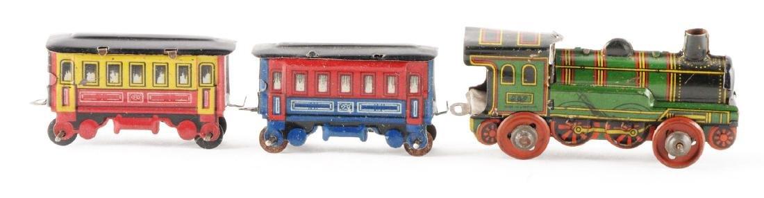 German Tin Litho Train Set Penny Toy.