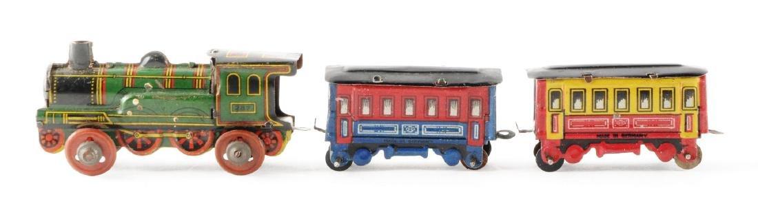 German Tin Litho Train Set Penny Toy. - 2