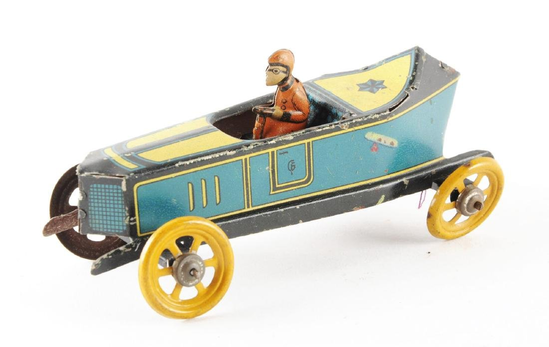 German Fischer Tin Litho Race Car Penny Toy. - 2