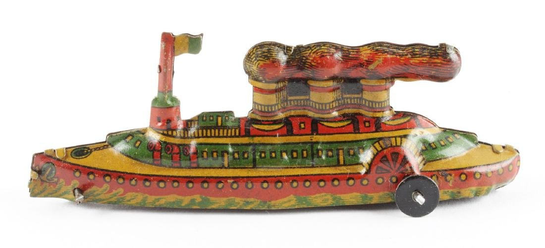 German Tin Litho Penny Toy Boat. - 2