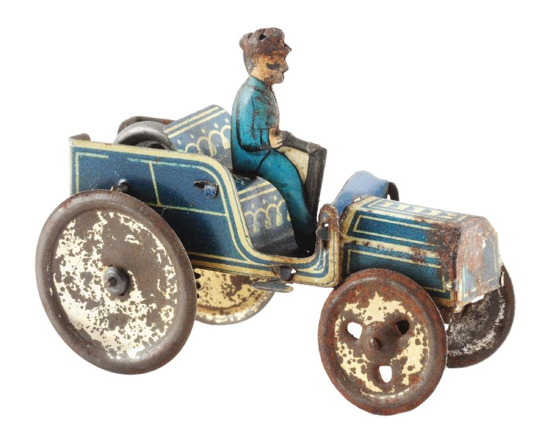 Early German Tin Litho Penny Toy Auto.