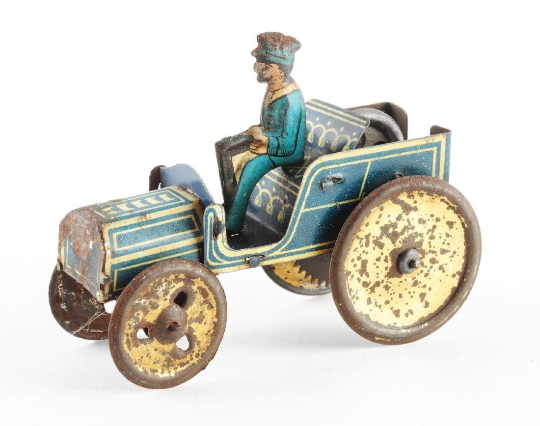 Early German Tin Litho Penny Toy Auto. - 2