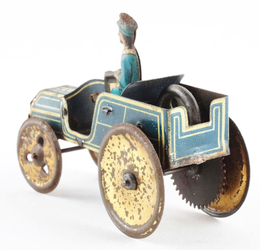 Early German Tin Litho Penny Toy Auto. - 3