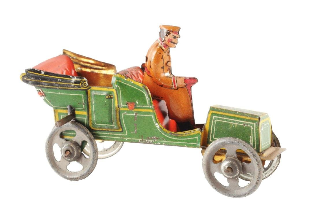 Early German Tin Litho Flywheel Penny Toy.