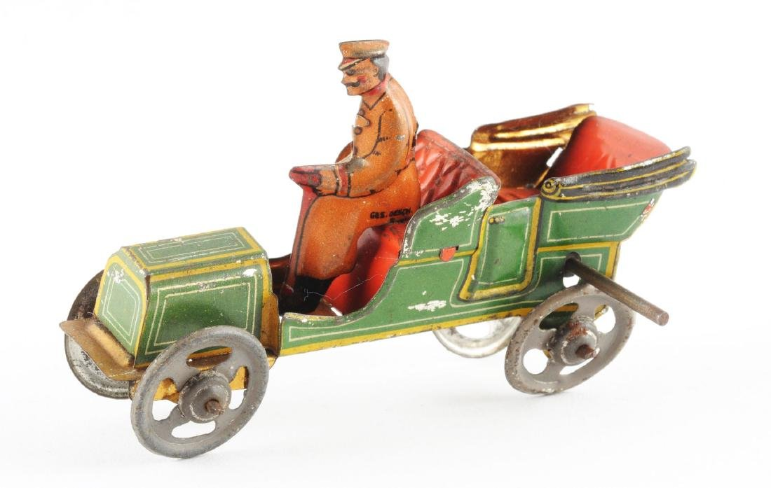 Early German Tin Litho Flywheel Penny Toy. - 2