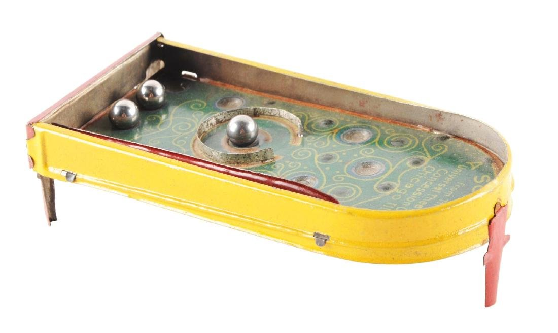 Rare German Tin Litho Pinball Machine Penny Toy.