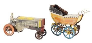 Lot of 2: German Tin Litho Toys.