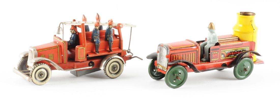 Lot of 2: Tin Litho Fire Automotive Toys. - 2