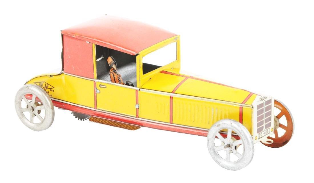 Italian Ingap Tin Litho Wind Up Coupe Automobile.
