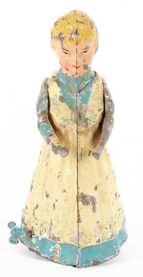 German Hand Painted Wind Up Tin Walking Woman. - 2