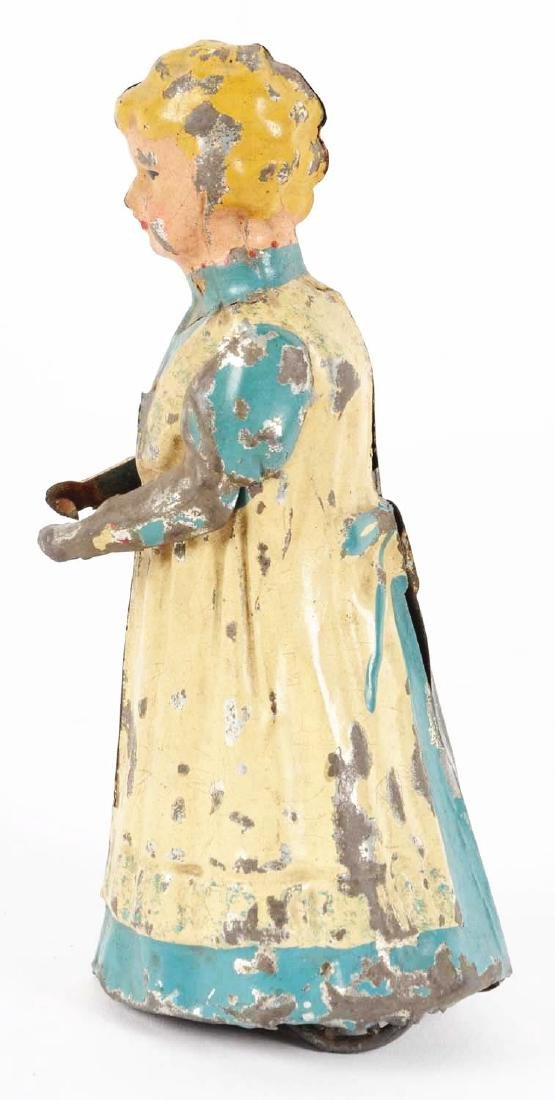 German Hand Painted Wind Up Tin Walking Woman. - 3
