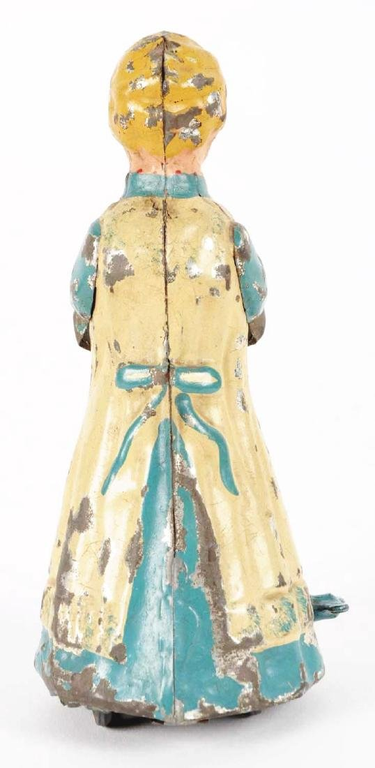 German Hand Painted Wind Up Tin Walking Woman. - 4