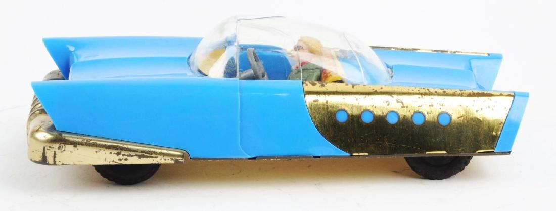 German Tin Litho & Plastic HWN Futuristic Space Car. - 2