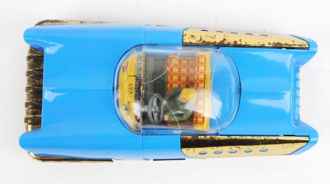 German Tin Litho & Plastic HWN Futuristic Space Car. - 3