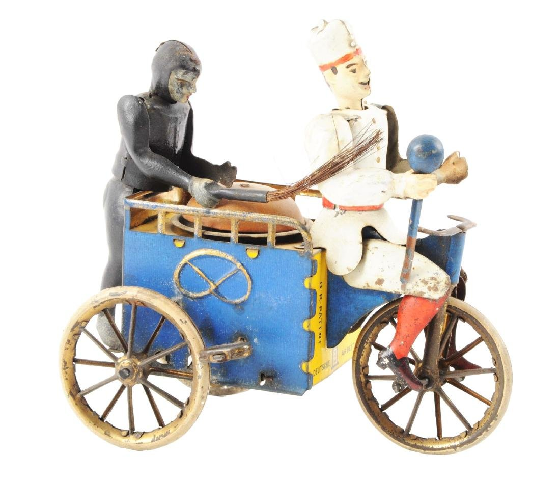 German Lehmann Tin Litho Wind Up Baker & Sweep Toy.