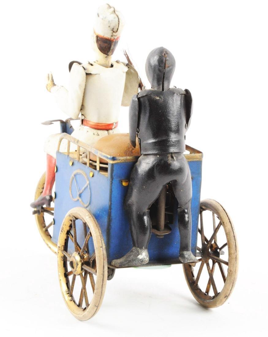 German Lehmann Tin Litho Wind Up Baker & Sweep Toy. - 3