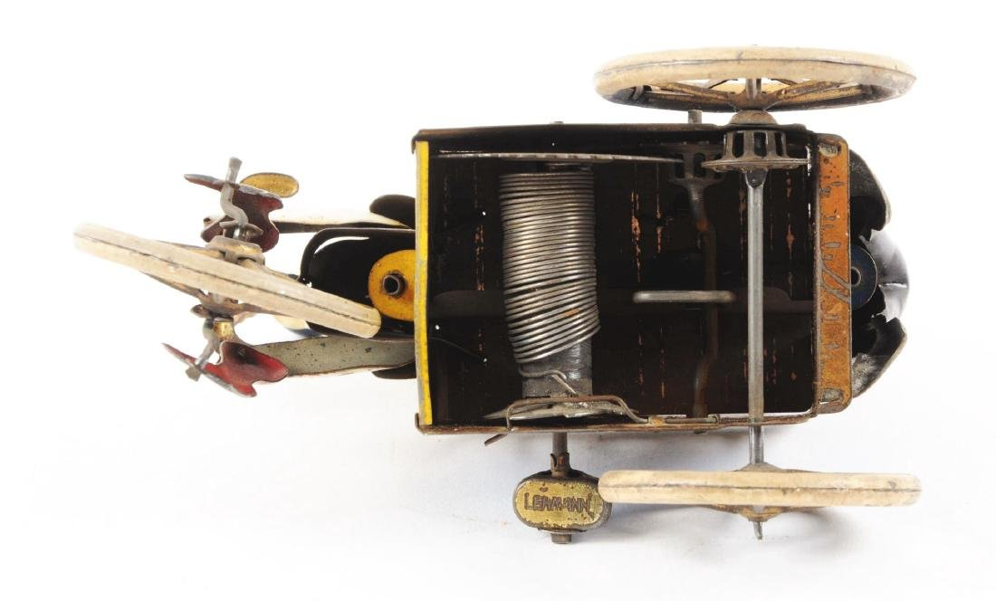 German Lehmann Tin Litho Wind Up Baker & Sweep Toy. - 4