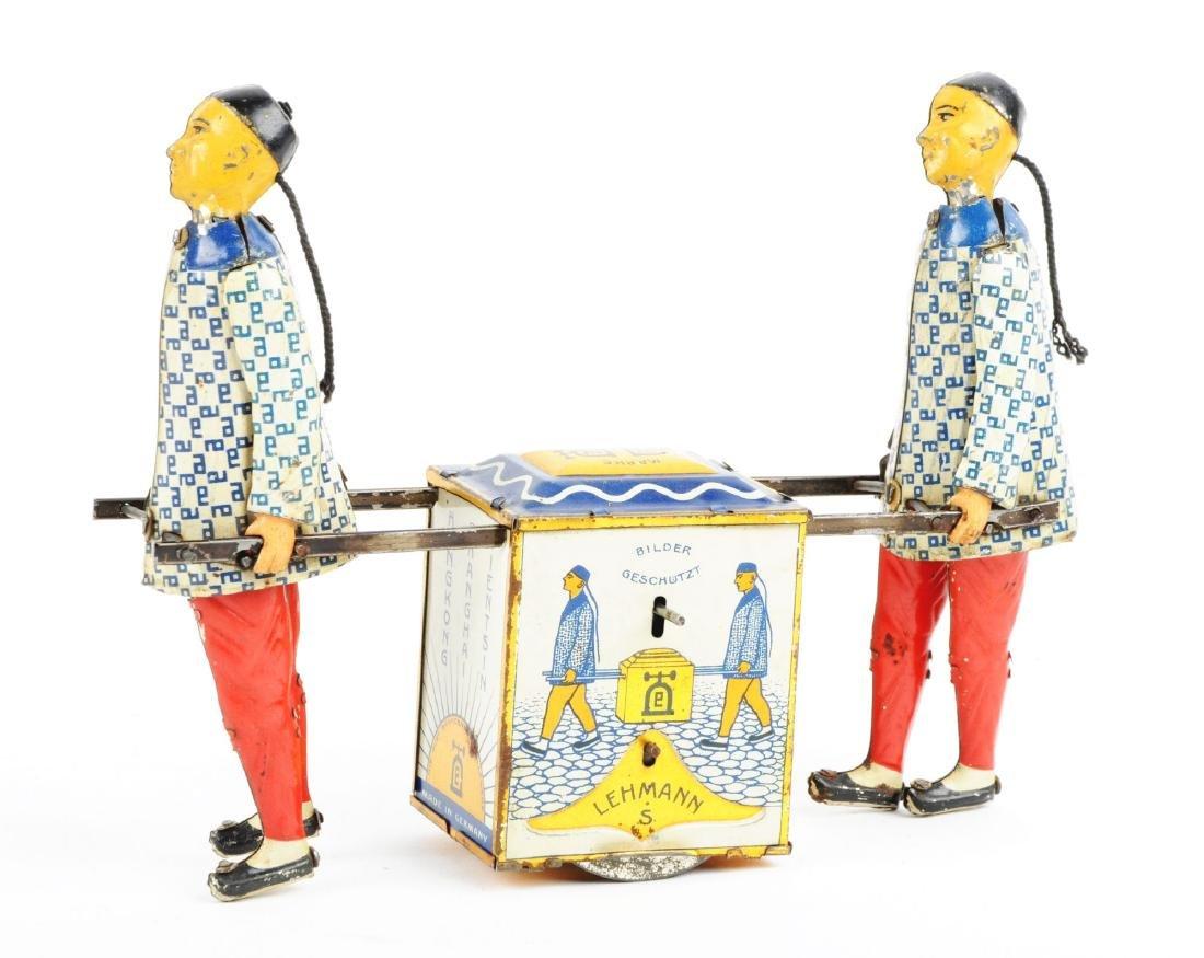 German Lehmann Tin Litho Kadi Toy. - 2