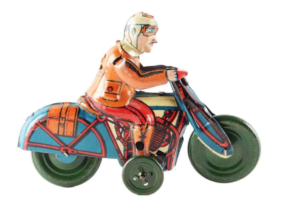 Spanish Tin Litho Motorcycle Toy.