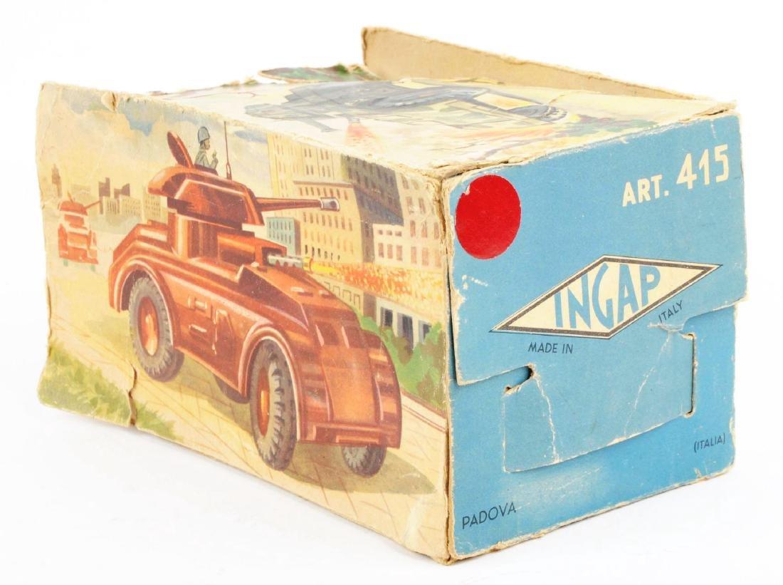 Unusual Pre-war Italian Ingap Wind Up Tank. - 3