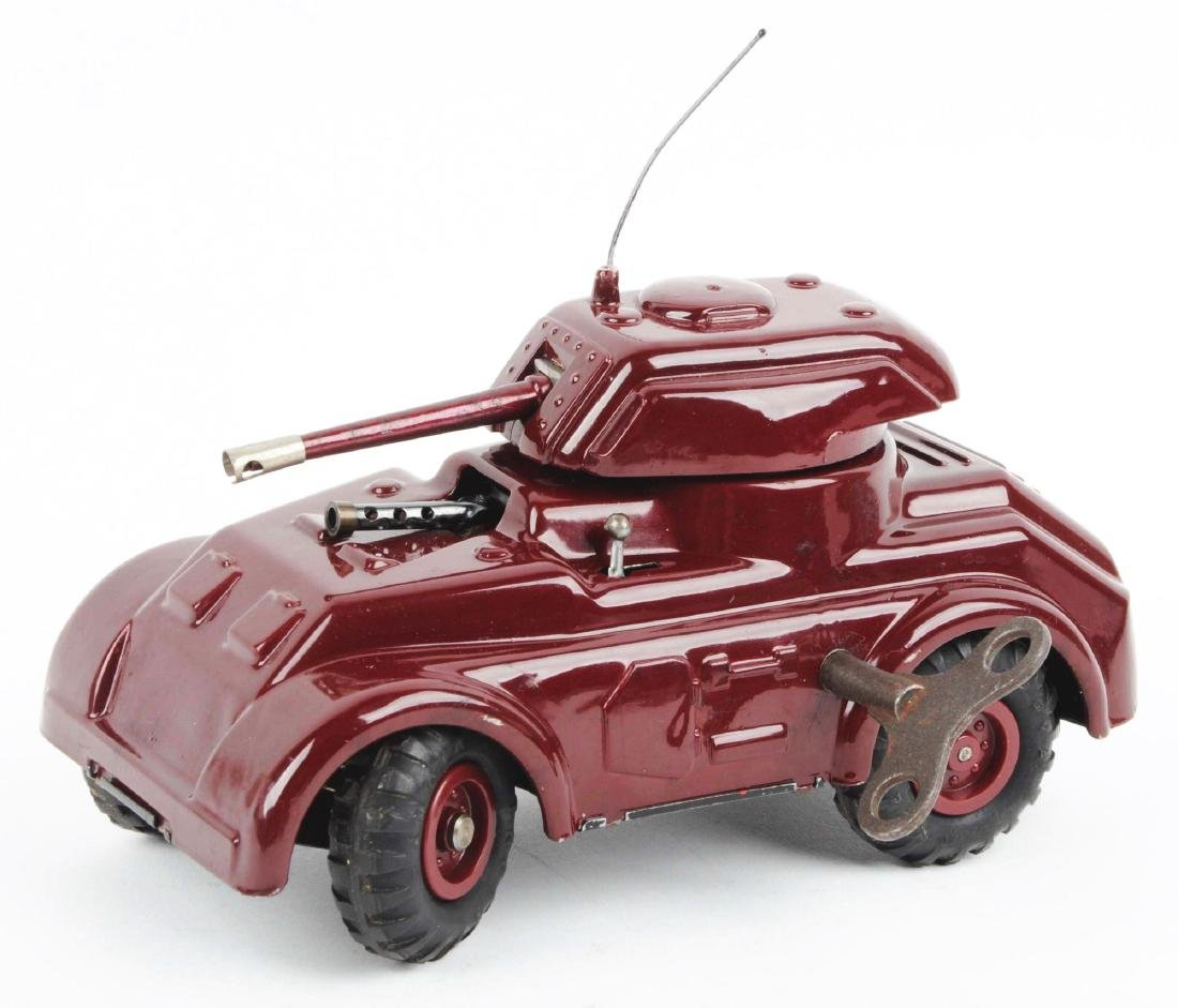 Unusual Pre-war Italian Ingap Wind Up Tank. - 6