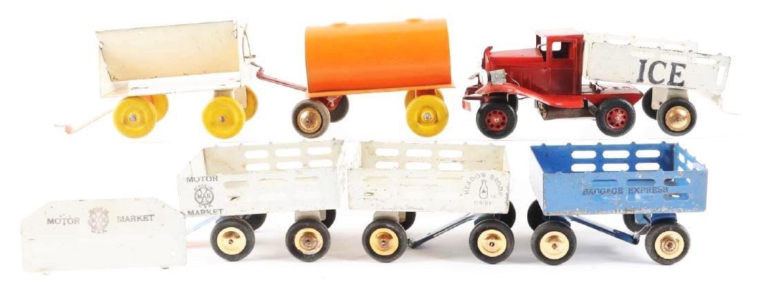 Pressed Steel Marx & Girard Wagon Sets. - 2