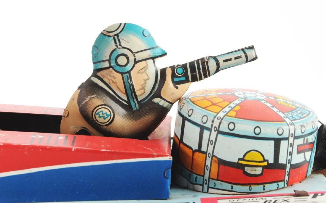 Marx Tin Litho Wind Up Rex Mars Planet Patrol. - 3