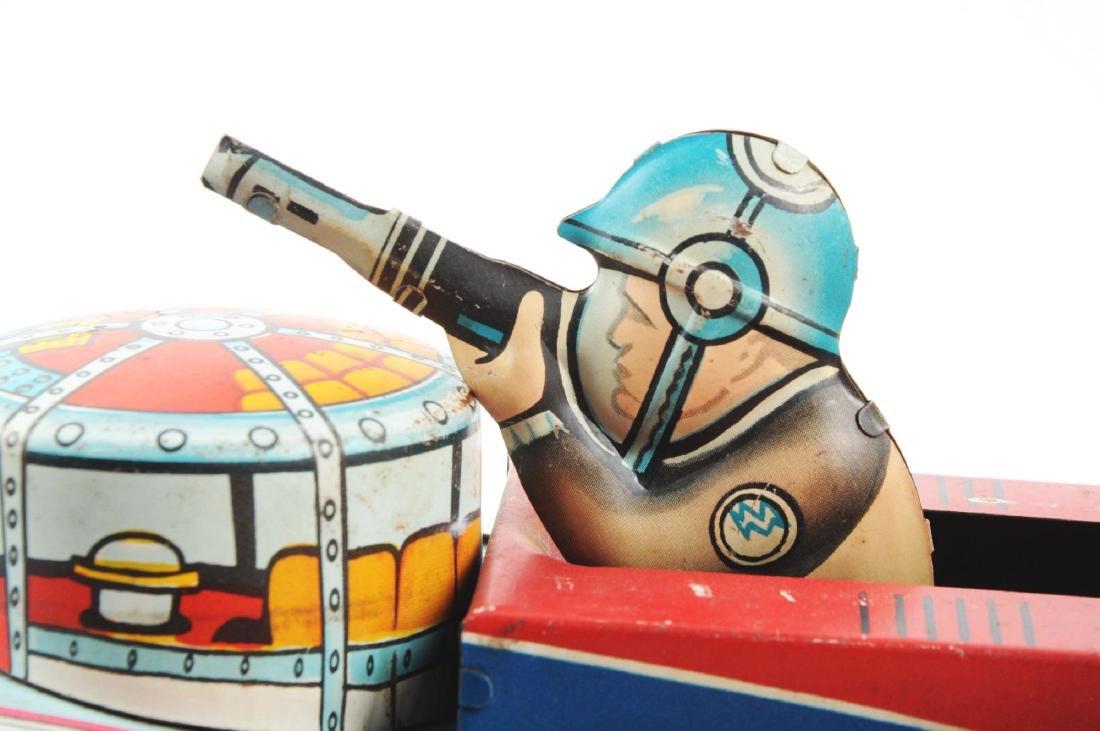 Marx Tin Litho Wind Up Rex Mars Planet Patrol. - 6