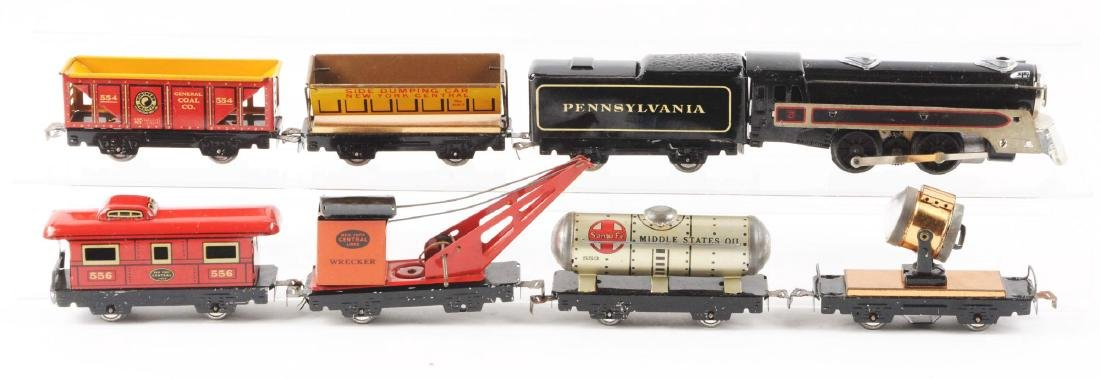Marx Tin Litho Electric Freight Warehouse Train Set. - 2