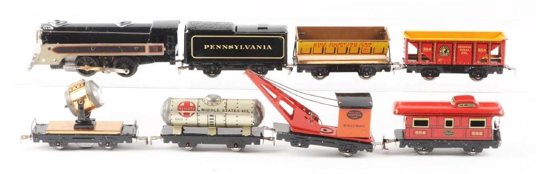 Marx Tin Litho Electric Freight Warehouse Train Set. - 3