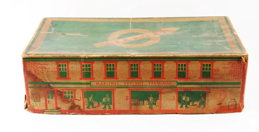 Marx Tin Litho Electric Freight Warehouse Train Set. - 4