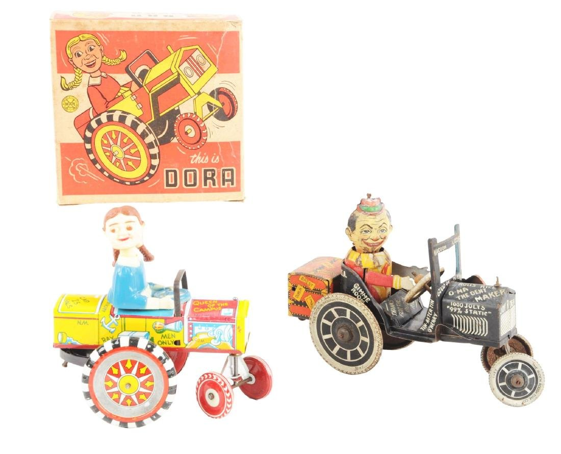 Lot of 2: Marx Tin Litho & Plastic Whoopie Car Toys.