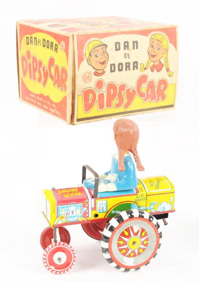 Lot of 2: Marx Tin Litho & Plastic Whoopie Car Toys. - 4