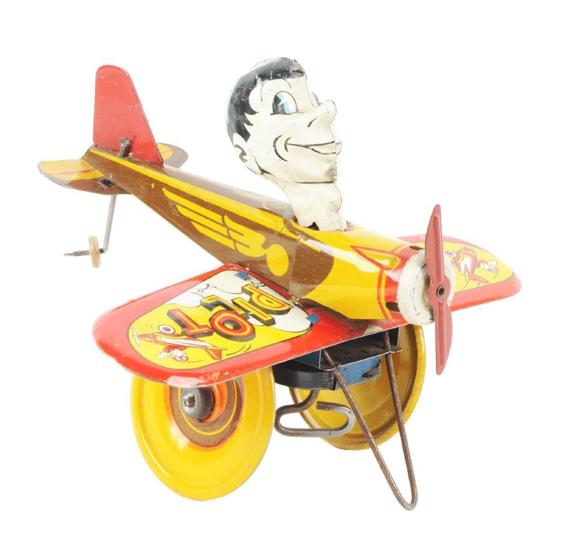 Marx Tin Litho Wind Up Rookie Pilot Toy.