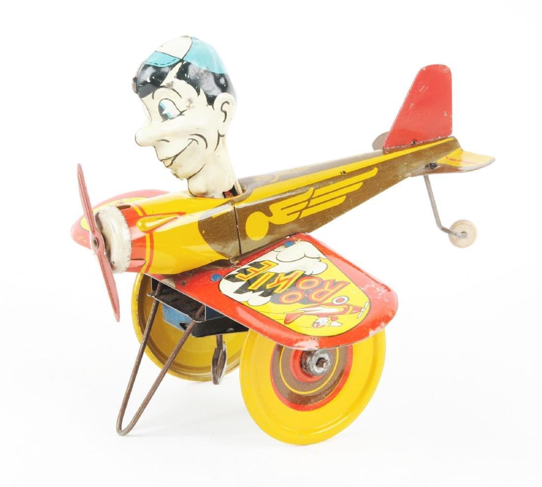 Marx Tin Litho Wind Up Rookie Pilot Toy. - 2