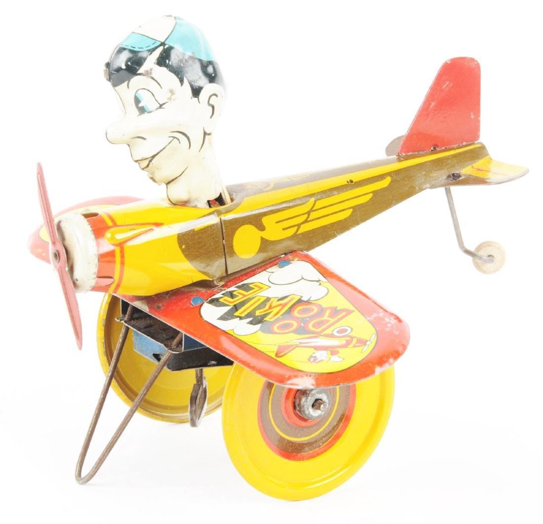 Marx Tin Litho Wind Up Rookie Pilot Toy. - 3