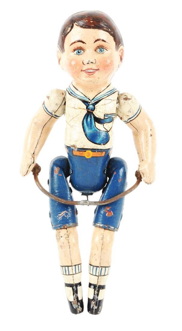 Unique Art Prototype Wonder Boy Cyclist Figure.