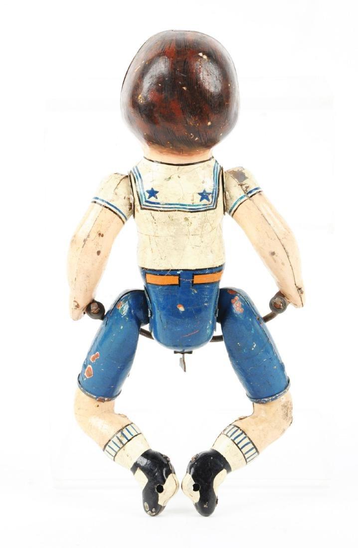 Unique Art Prototype Wonder Boy Cyclist Figure. - 2