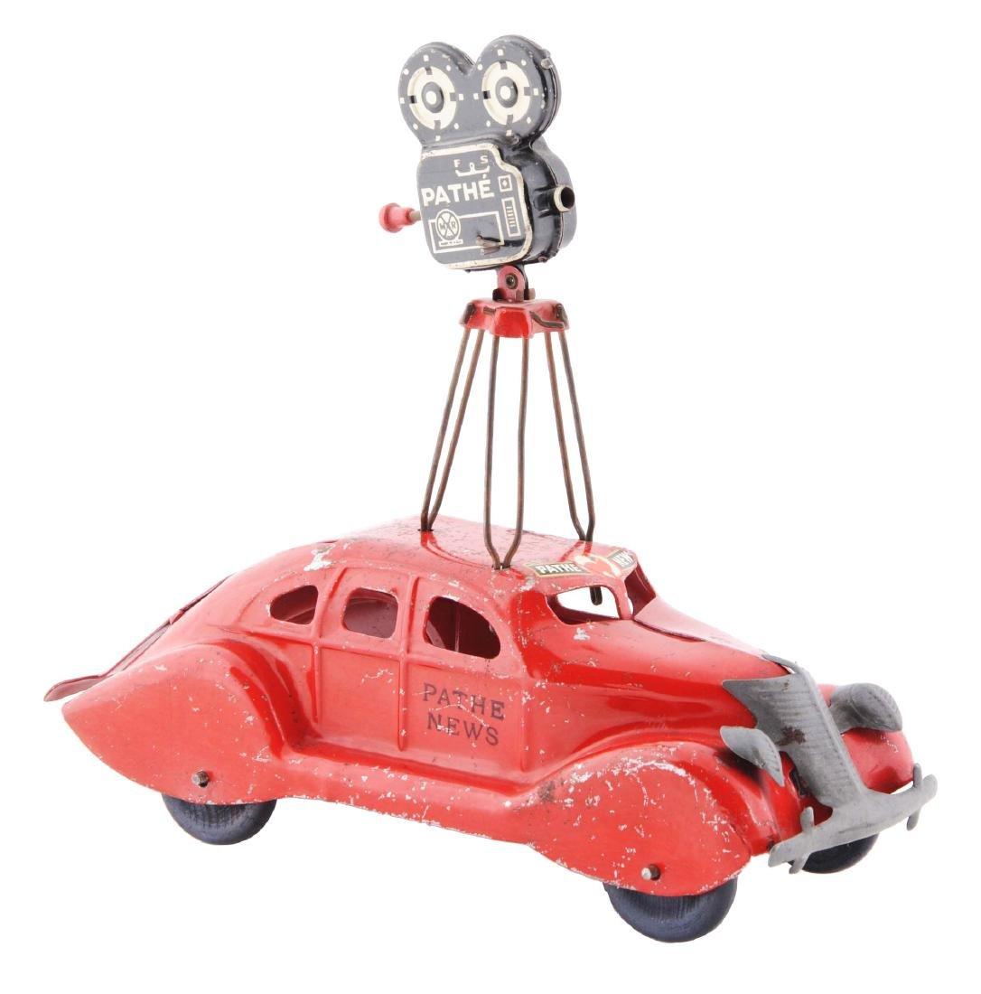 Scarce Marx Pressed Steel Pathe News Car.