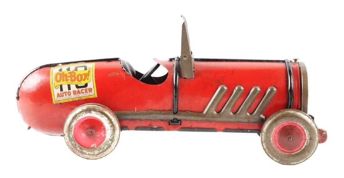 Kiddies Metal Toys Tin Oh-Boy Auto Race Car.