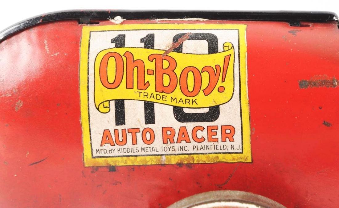 Kiddies Metal Toys Tin Oh-Boy Auto Race Car. - 2