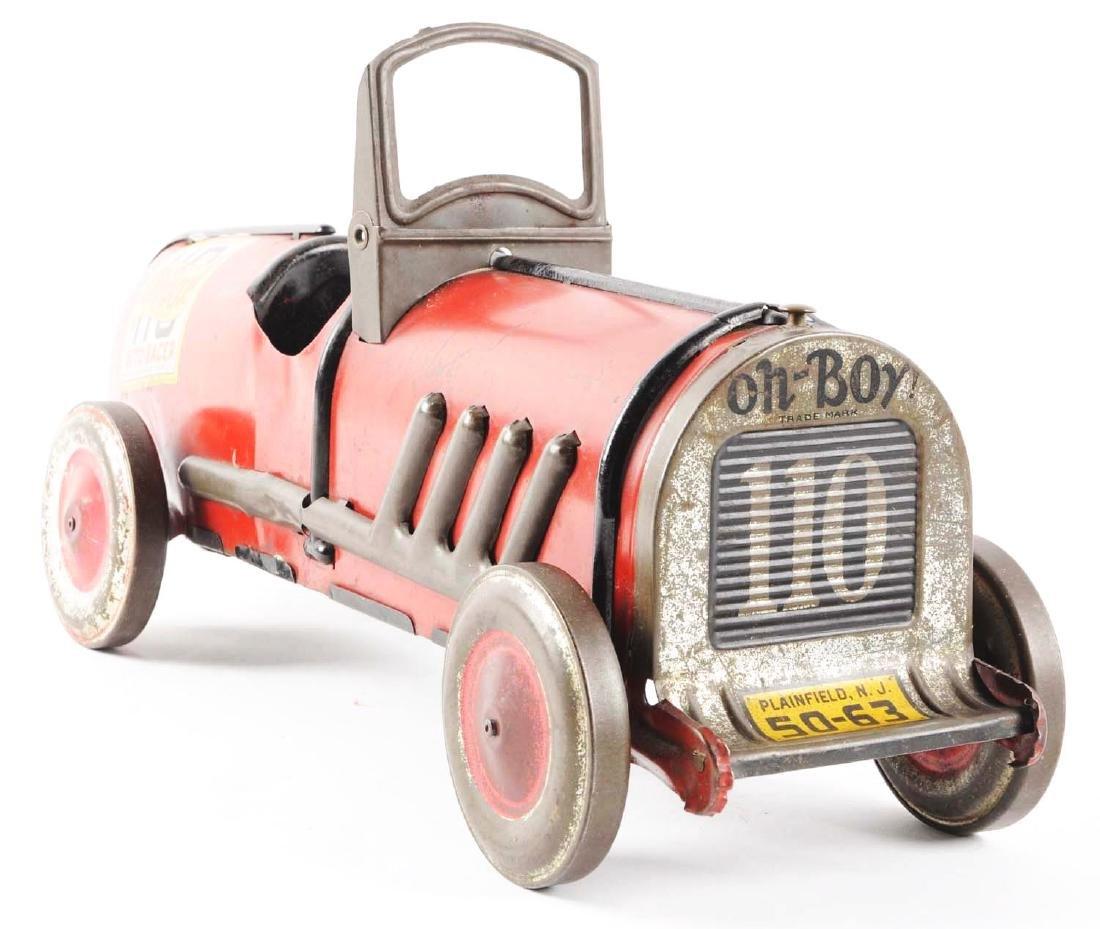 Kiddies Metal Toys Tin Oh-Boy Auto Race Car. - 3