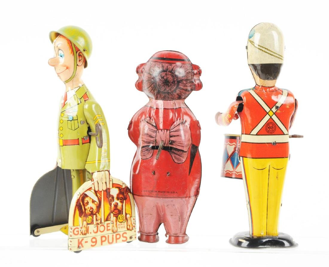 Lot of 3: American Made Tin Litho Wind-Up Toys. - 2