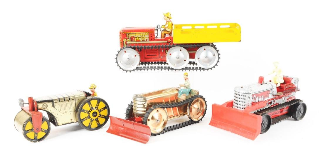 Lot of 4: Marx Tin Litho Tractor Toys. - 2