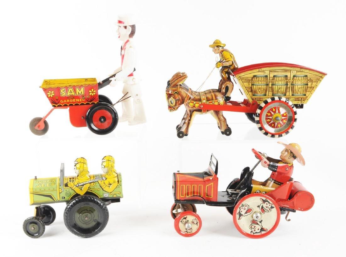 Lot of 4: Marx Tin Litho Wind Up Vehicle Toys. - 2