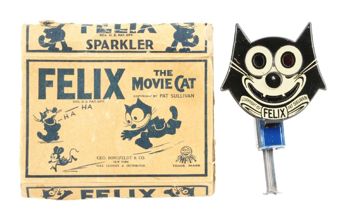 Niffy Tin Litho Felix The Cat Sparkler.