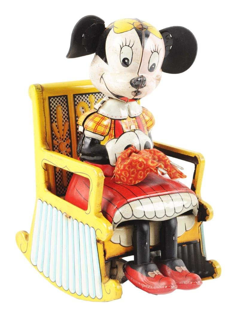 Linemar Walt Disney Tin Lithio Wind Up  Minnie Mouse in