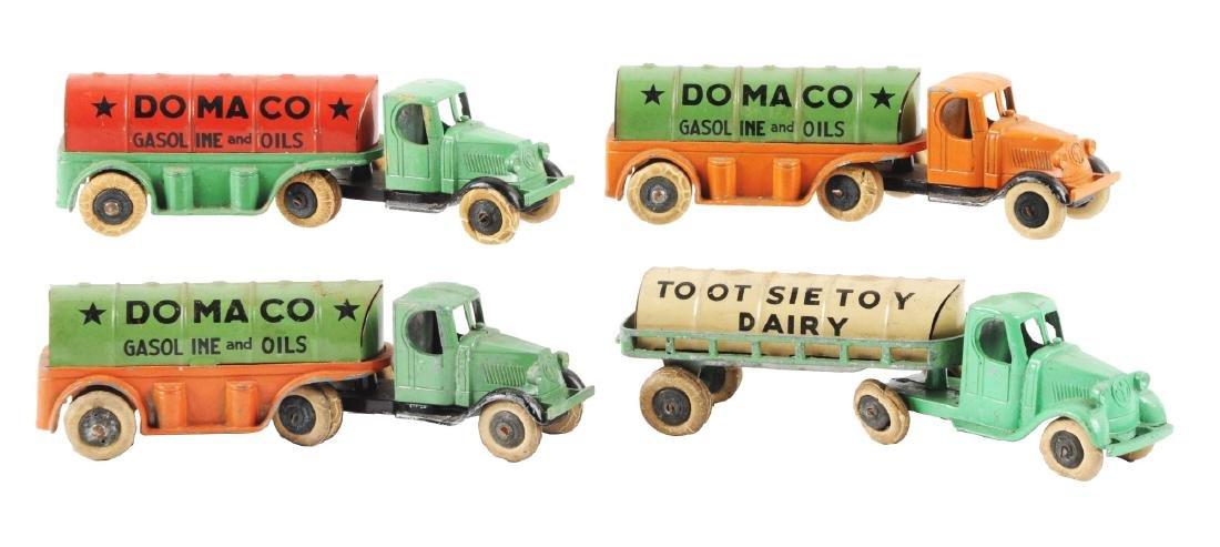Lot of 4: Diecast Tootsie Toy Pre-war Tractor Trailer