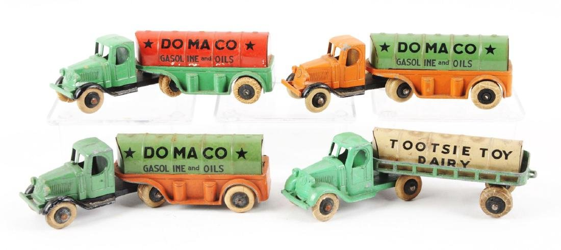 Lot of 4: Diecast Tootsie Toy Pre-war Tractor Trailer - 2