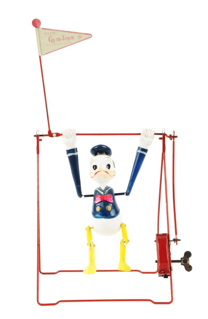 Linemar Walt Disney Celluloid Wind Up Donald Duck Swing